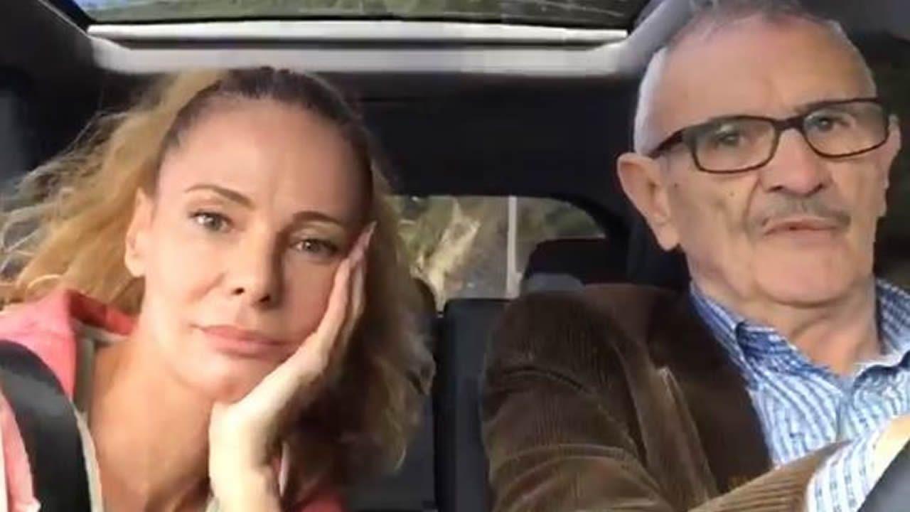 Paula Vázquez desmiente los rumores ayudada por su padre.Paula Vázquez y Saúl Craviotto son los presentadores de Ultimate beastmaster España