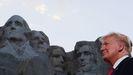 Donald Trump, al pie del monte Rushmore, durante la fiesta del Día de la Independencia