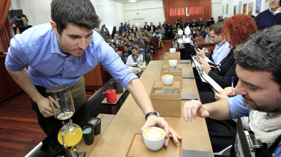 Los mejores baristas concursan en Foz.Arias, candidata.