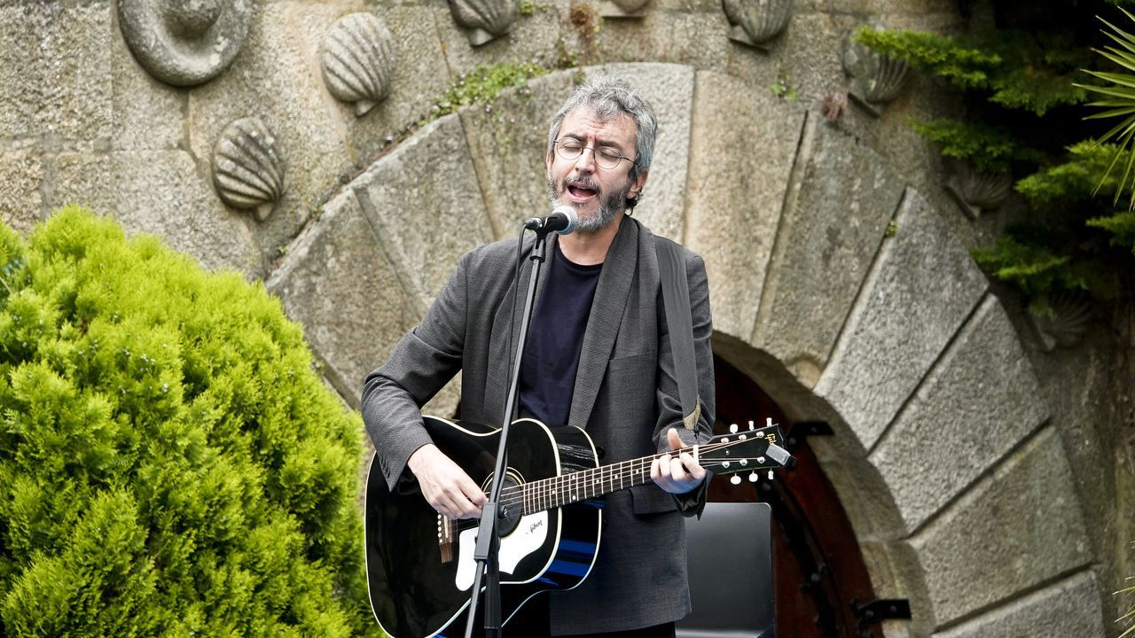 Xoel López durante la presentación de la campaña turística Camiña Galicia del Xacobeo 21-22