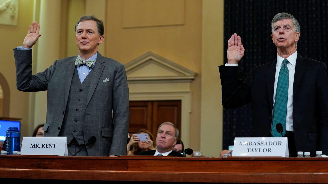 Los diplomáticos George Kent y Bill Taylor fueron los primeros en testificar