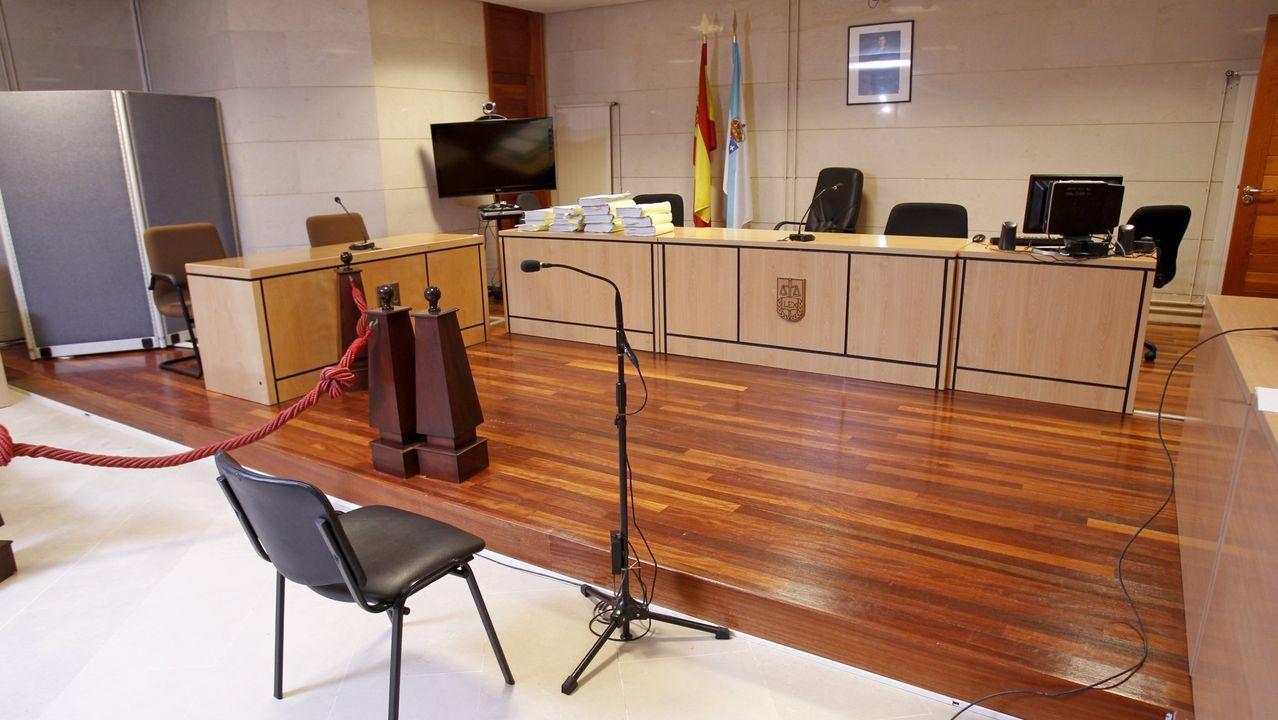 Un hombre mata a su sobrino de tres años estrangulándolo en Santiago.Sala de vistas de la sección compostelana de la Audiencia Provincial, en una imagen de archivo