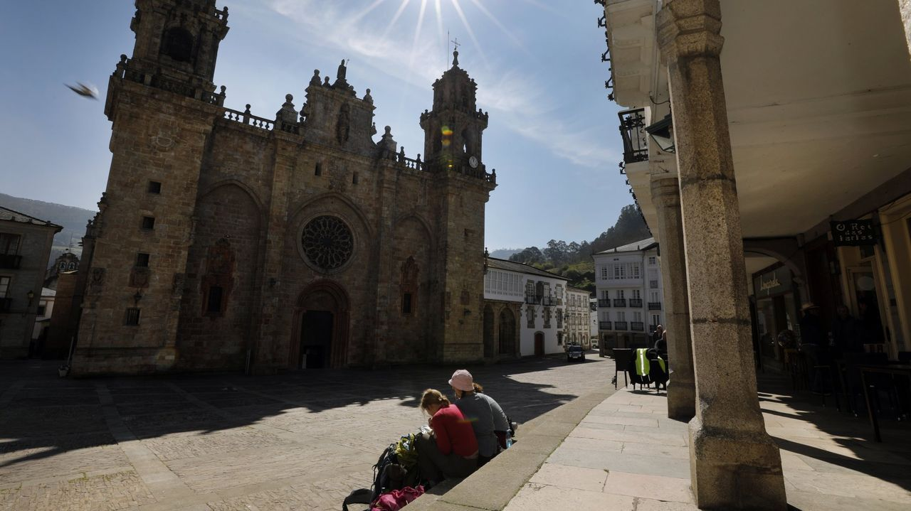 La catedral, uno de los atractivos de Mondoñedo