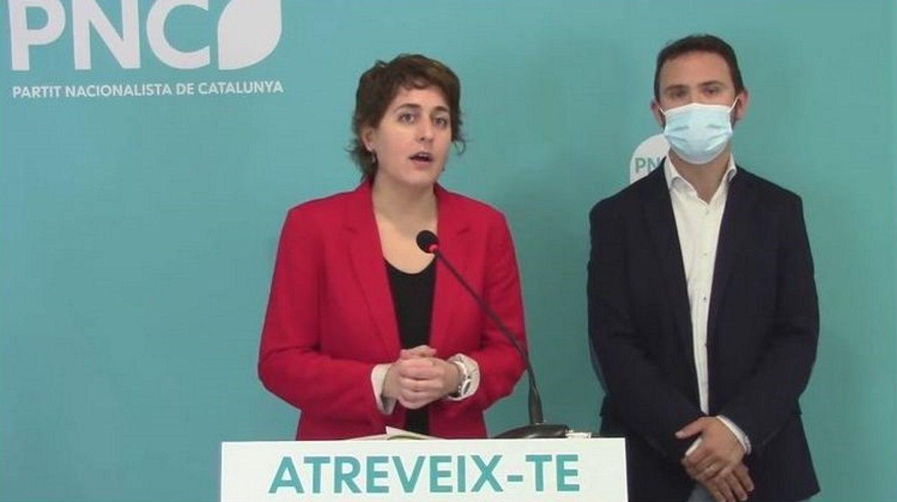 Marta Pascal, candidata del PNC  a la Generalitat, valoró este lunes los resultados