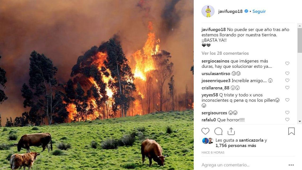 Javi fuego muestra su dolor ante los incendios forestales en Asturias
