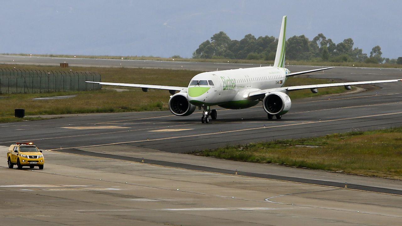 Avión de Ryanair en Lavacolla