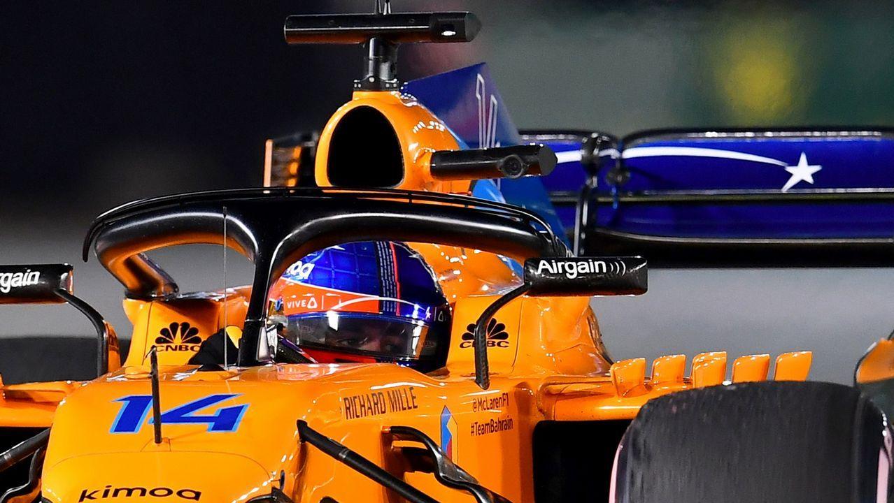 Fernando Alonso celebra en Brasil el campeonato del mundo del 2005