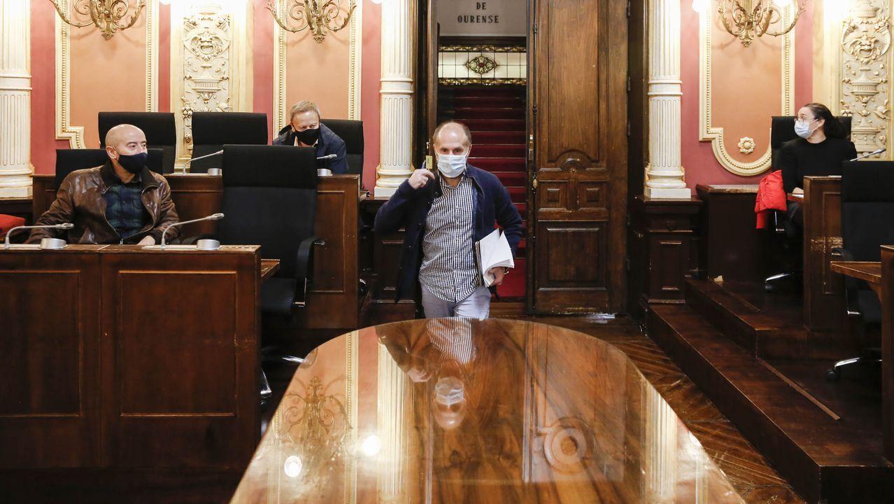 Jácome, a su llegada a la reunión de la junta de portavoces celebrada este viernes