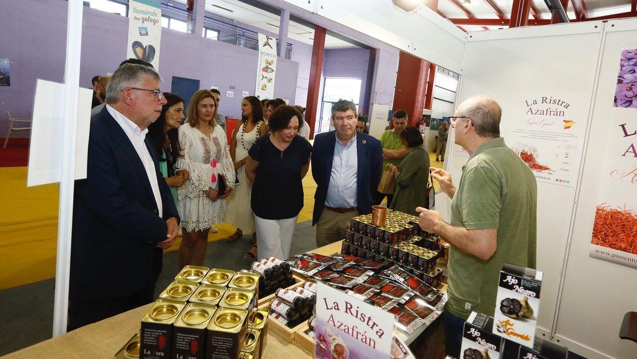 Produart, artesanía y ecología en Burela.El alcalde de Burela, Alfredo Llano, saliendo del Ayuntamiento