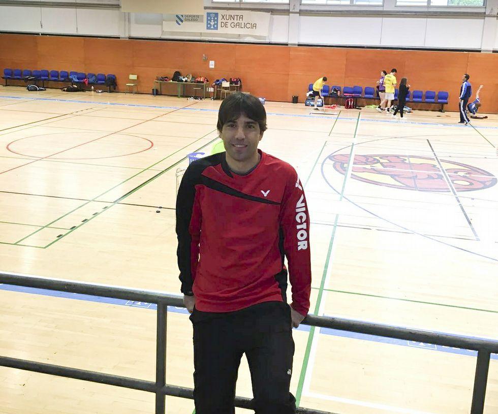 Rafael Vázquez en el centro de tecnificación de Pontevedra.