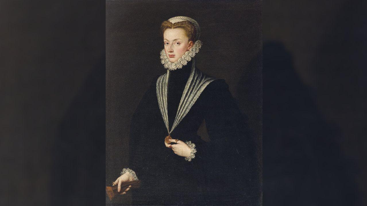 Juana de Austria, hija del emperador Carlos V y hermana de Felipe II, retratada en 1550 por Sofonisba Anguissola
