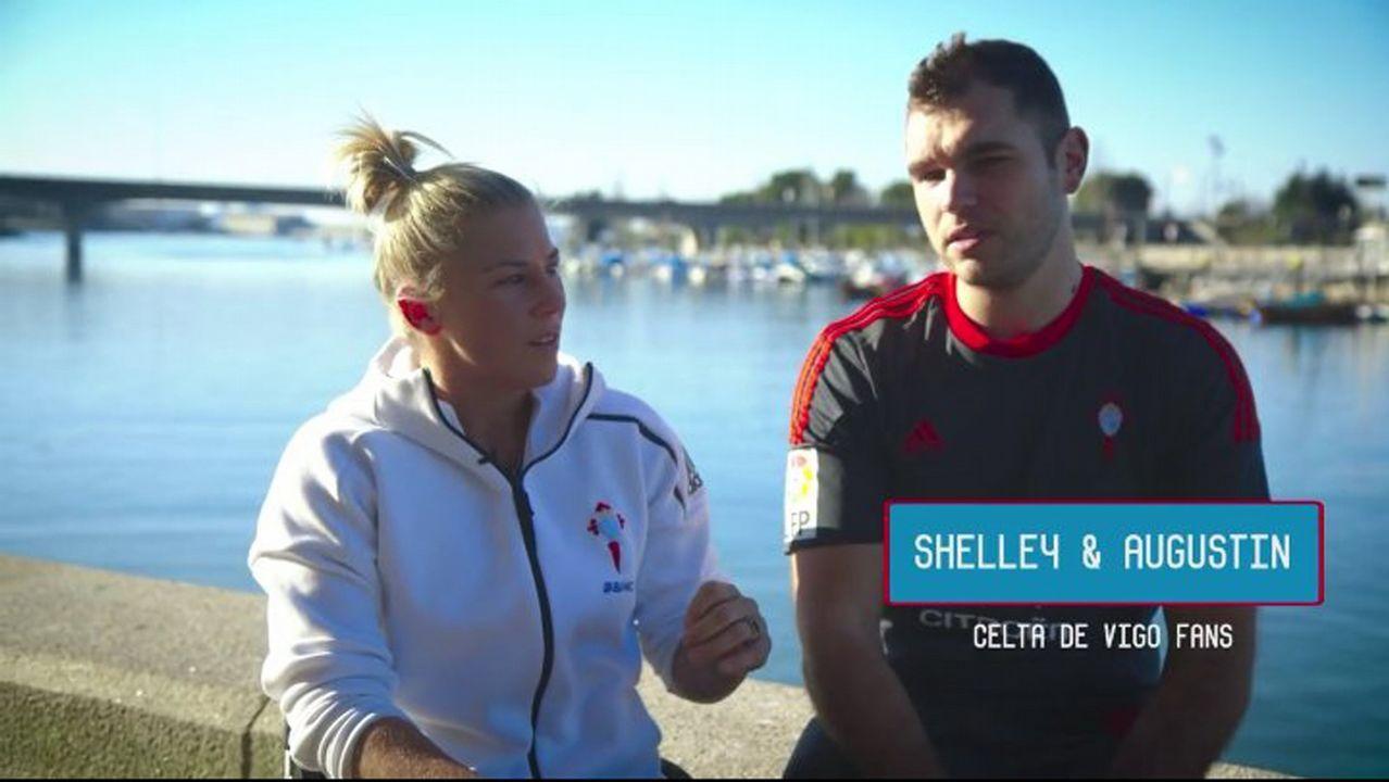Shelley Cronau y Agustín Alejos, jugadores del Amfiv