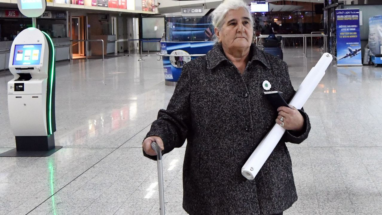 Una de las supervivientes de Srebrenica