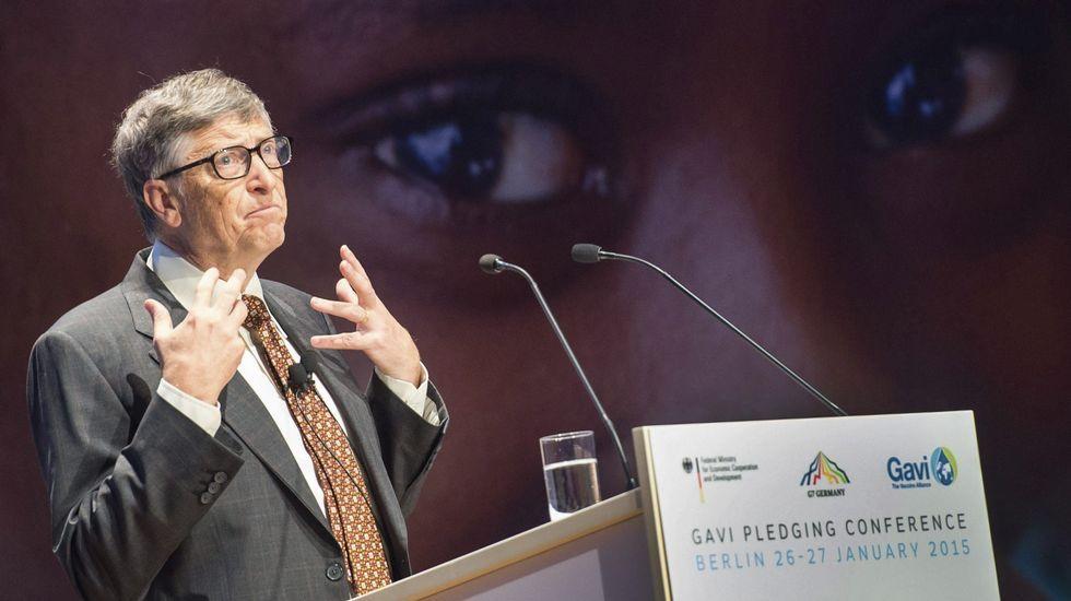 Bill Gates, en una conferencia para un programa de cooperación internacionl