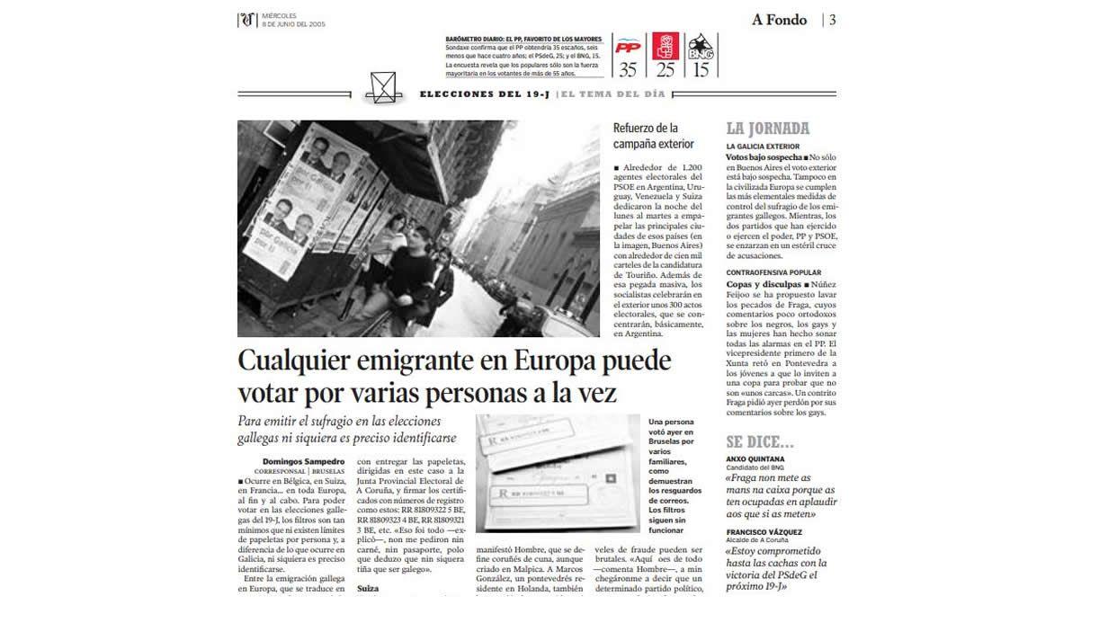 Reportaje publicado por La Voz el 8 de junio del 2005