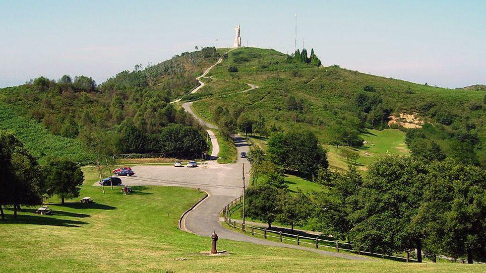 La cima del Naranco.La cima del Naranco