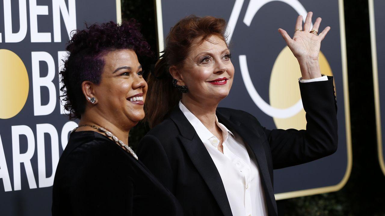 La activista Rosa Clemente y la actriz Susan Sarandon