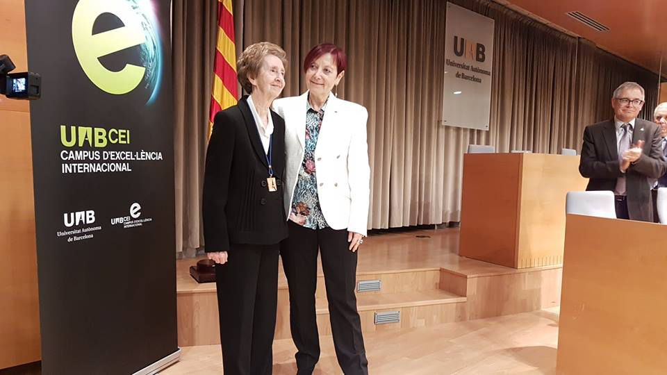 Margarita Salas en la presentación de su investidura en la UAB