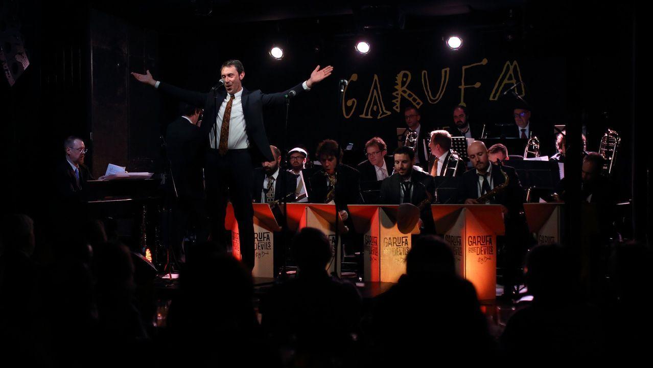 Sí a las mascarillas.Imagen de archivo de un concierto de Blue Devils Big Band en el Garufa Club