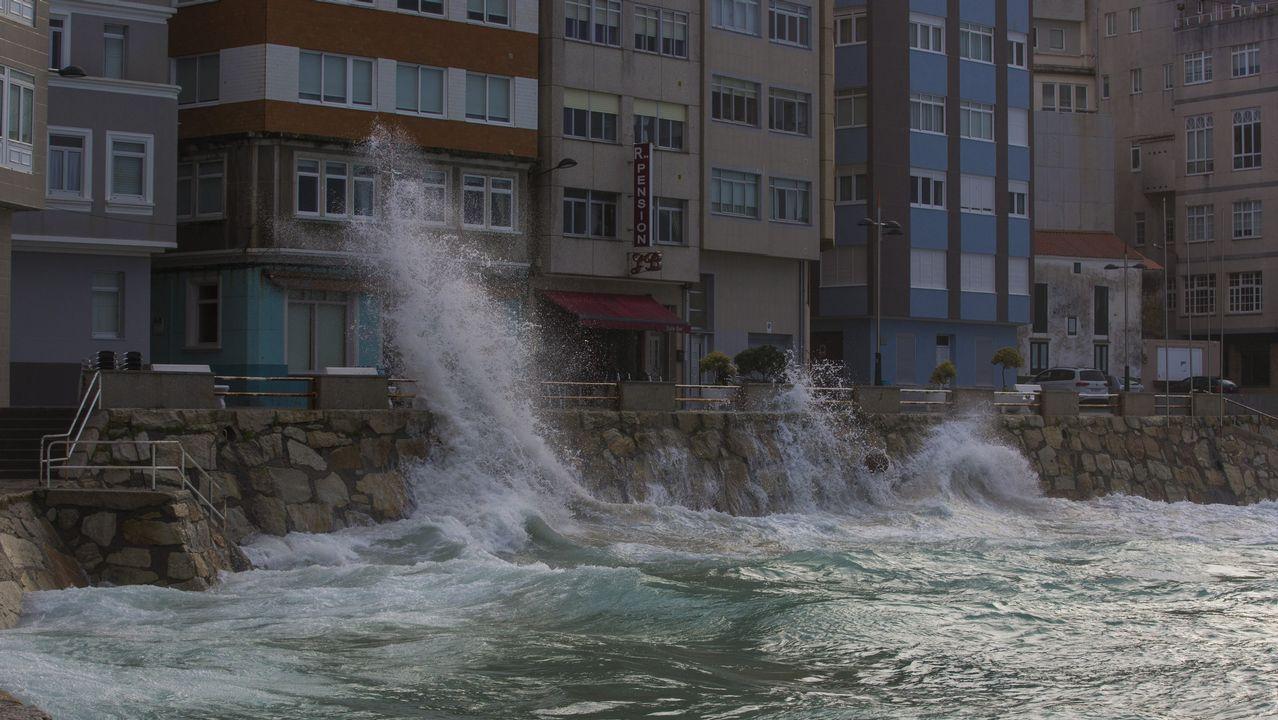 Los efectos del temporal en Galicia, en imágenes