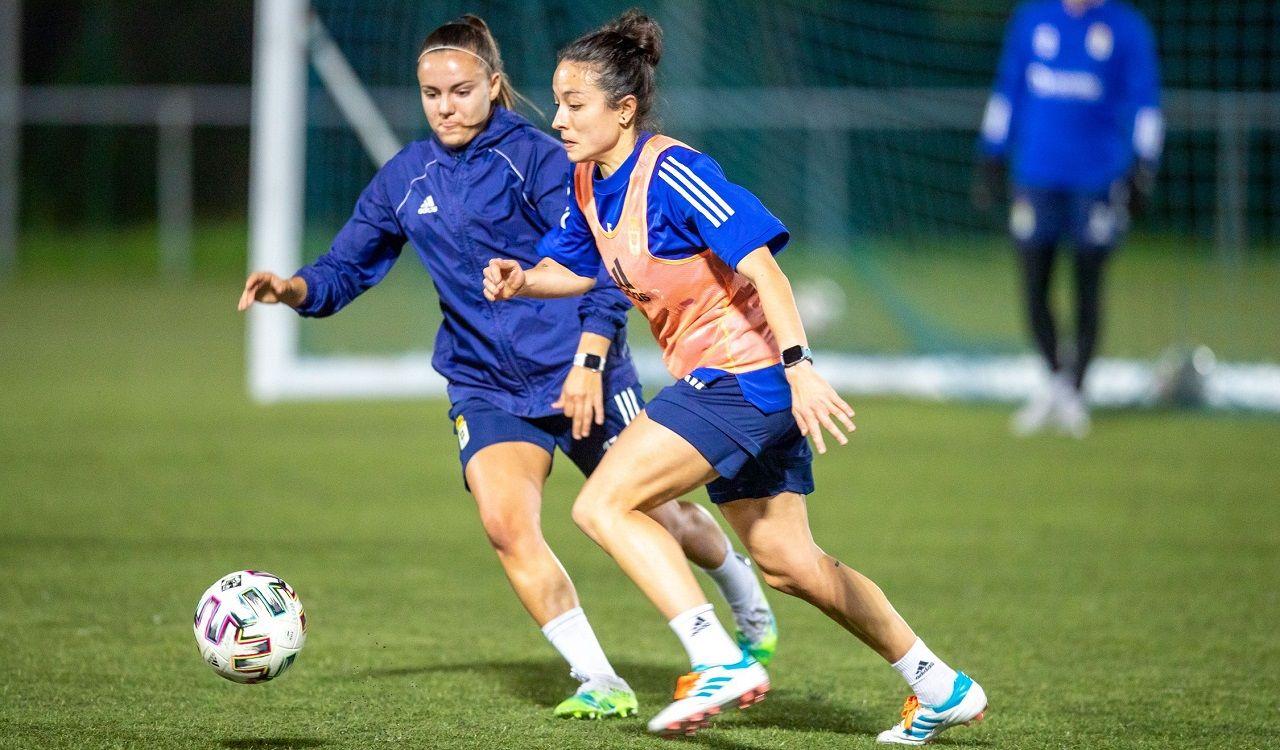 Real Oviedo Femenino entrenamiento