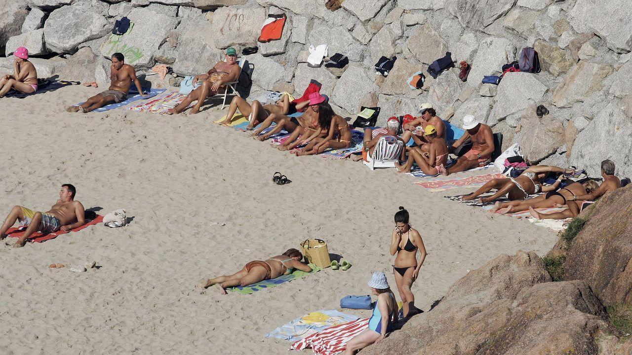 Imagen tomada en la playa del Matadero de A Coruña en noviembre del 2007