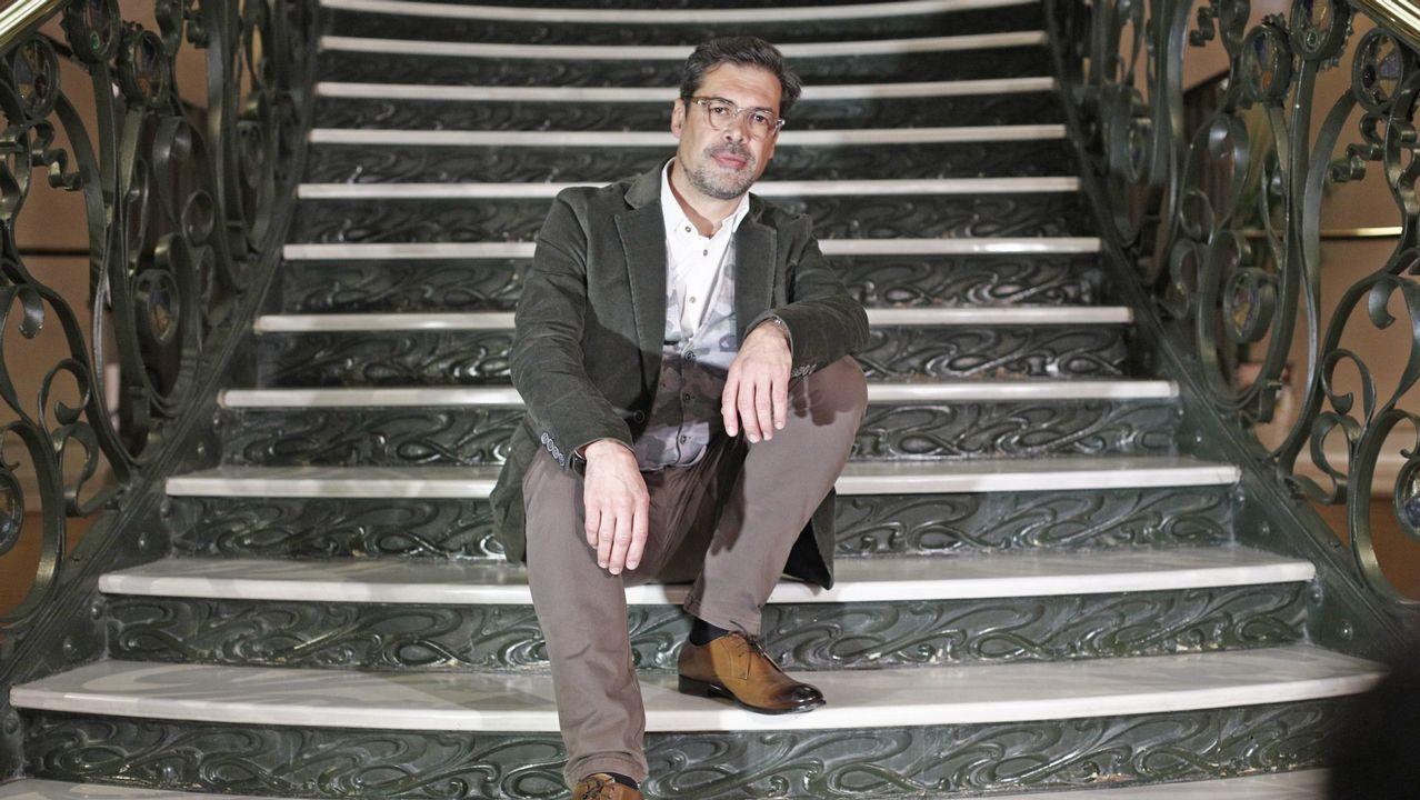 El gaitero José Ángel Hevia, presidente de la SGAE.