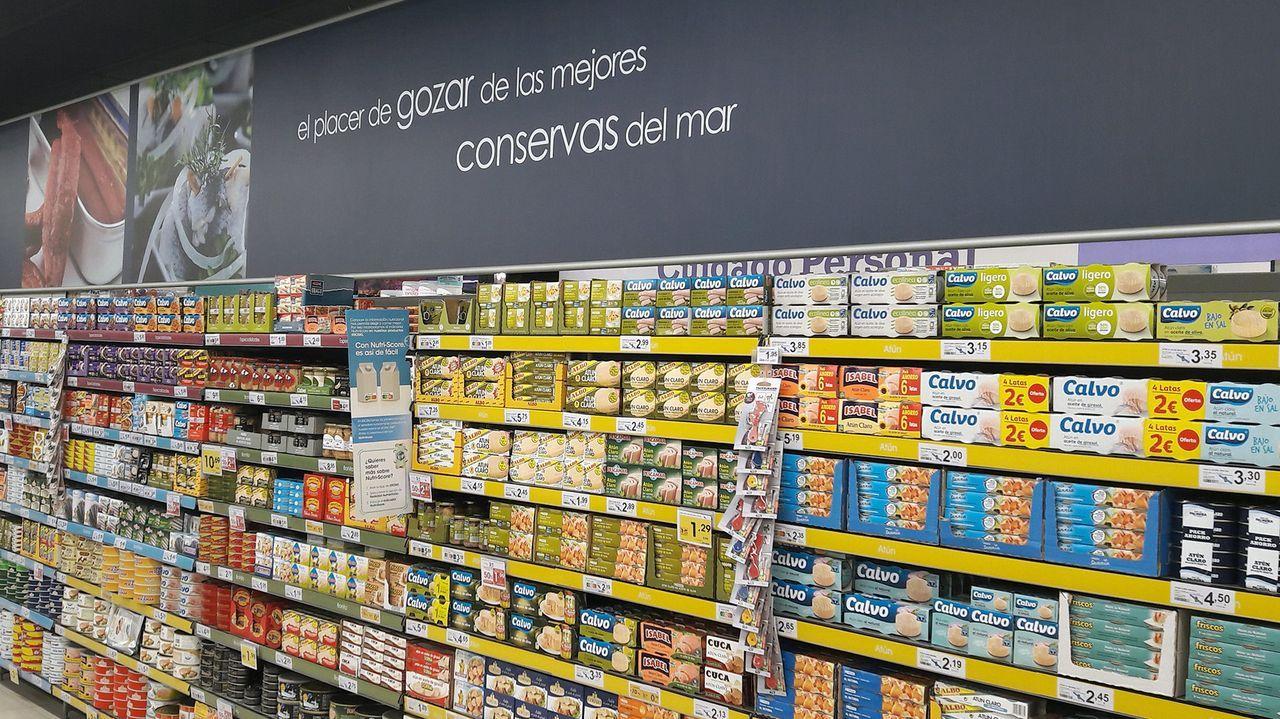 Las conservas gallegas del mar las promociona Vegalsa-Eroski en los 271 establecimientos, entre propios y franquiciados, que tiene en Galicia, Asturias y Castilla-León