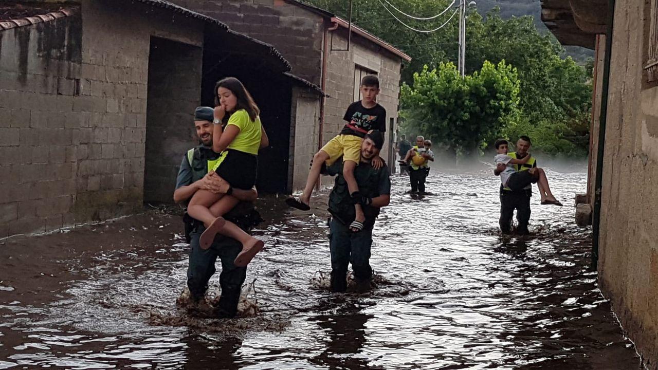 Inundaciones en Albarellos, Monterrei