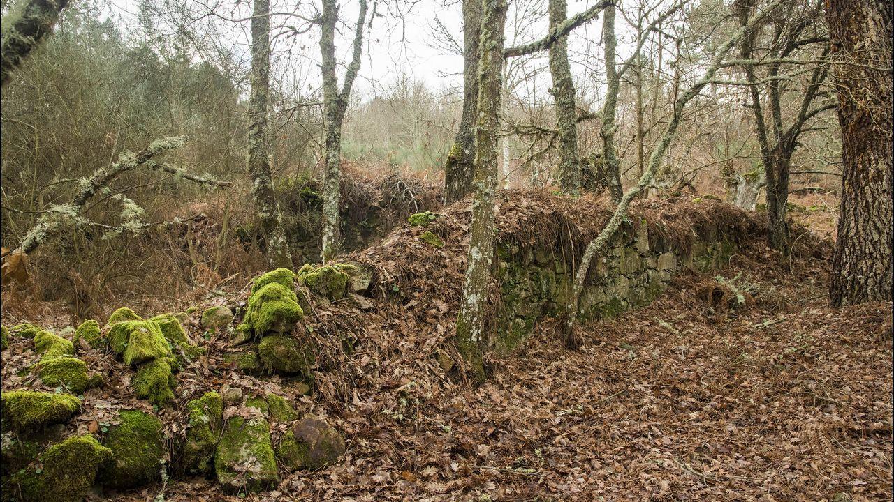 Ruinas de la antigua casa o aldea de Antuín