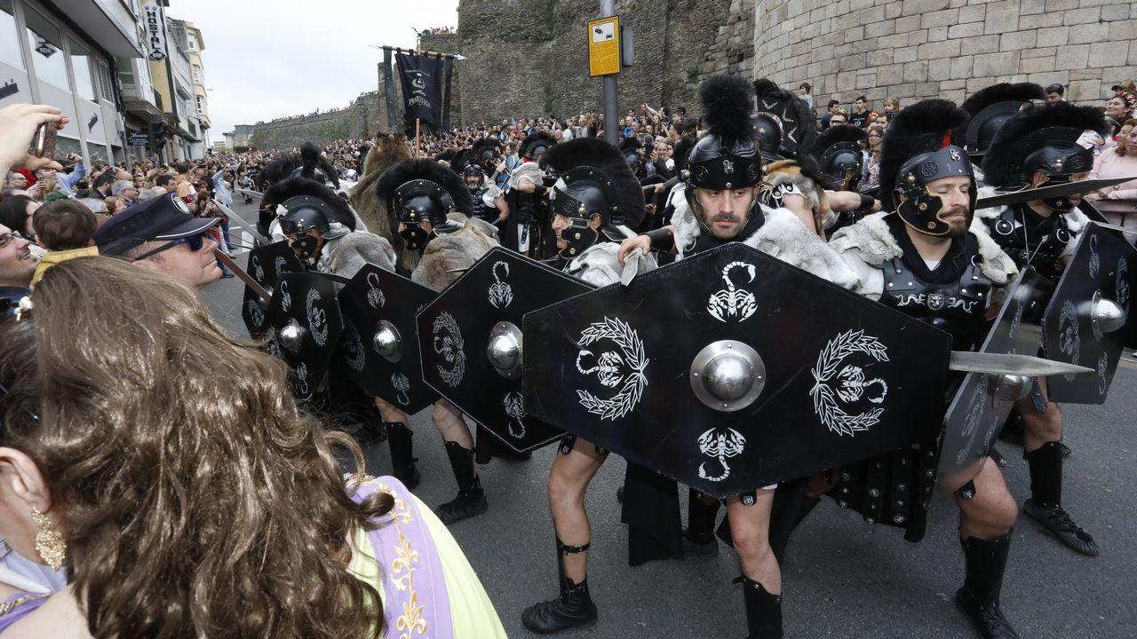 Las imágenes del gran desfile del Arde Lucus