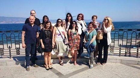 Imagen se la visita de los profesores de Culleredo a Italia