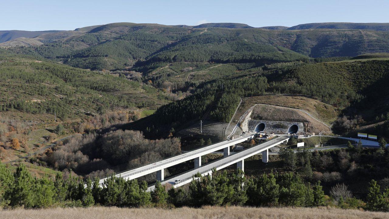 Un viaducto en el tramo Porto-Prado (Ourense)