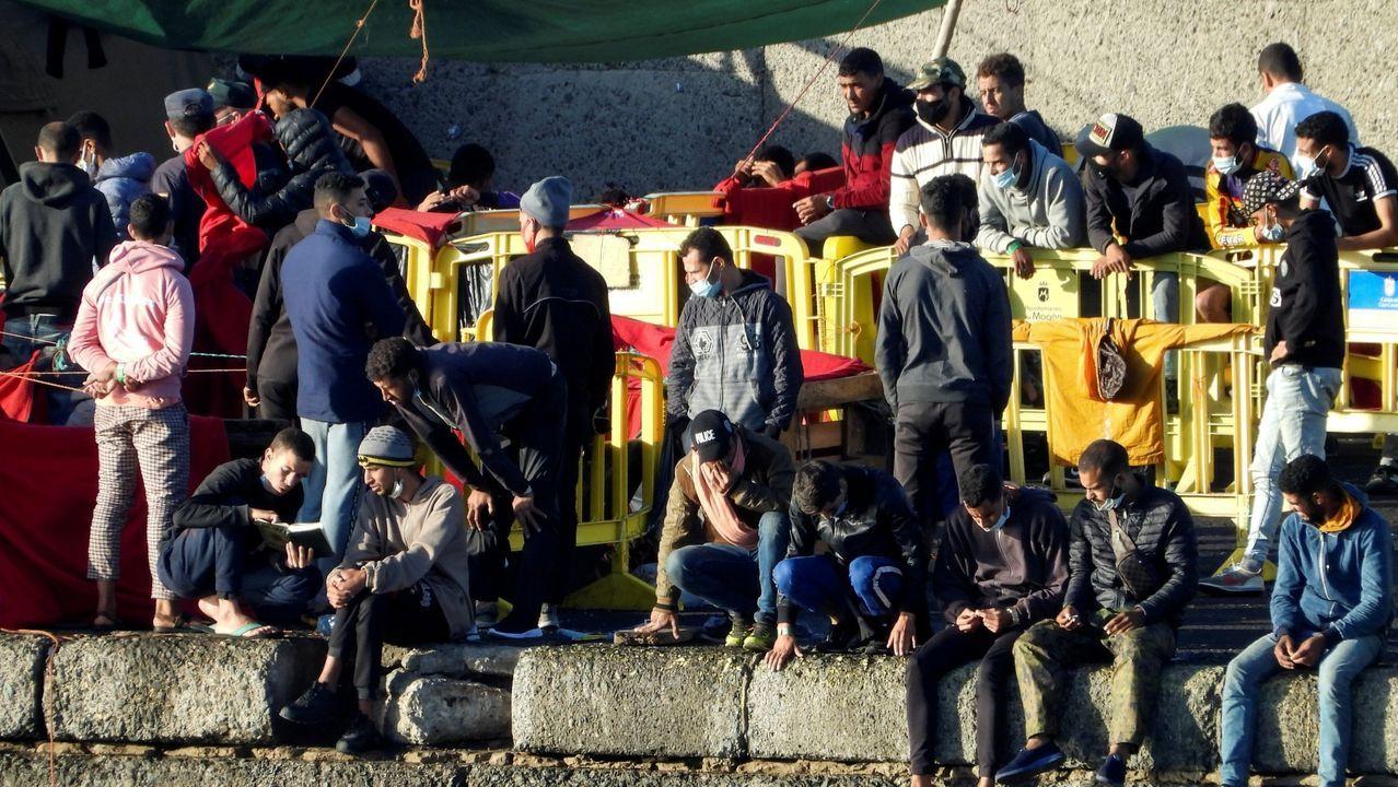 Inmigrantes en Arguineguín