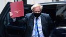 Boris Johnson, a su regreso a Downing Street tras la sesión de control en el Parlamento