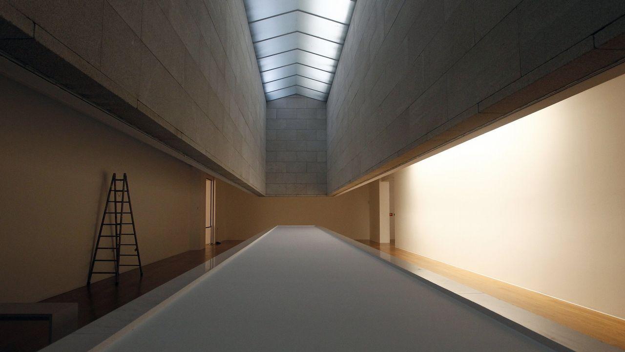 Las joyas en la sombra del Museo de Bellas Artes de Asturias.Una de las ilustraciones de la exposición, «La muerte de Lucy»