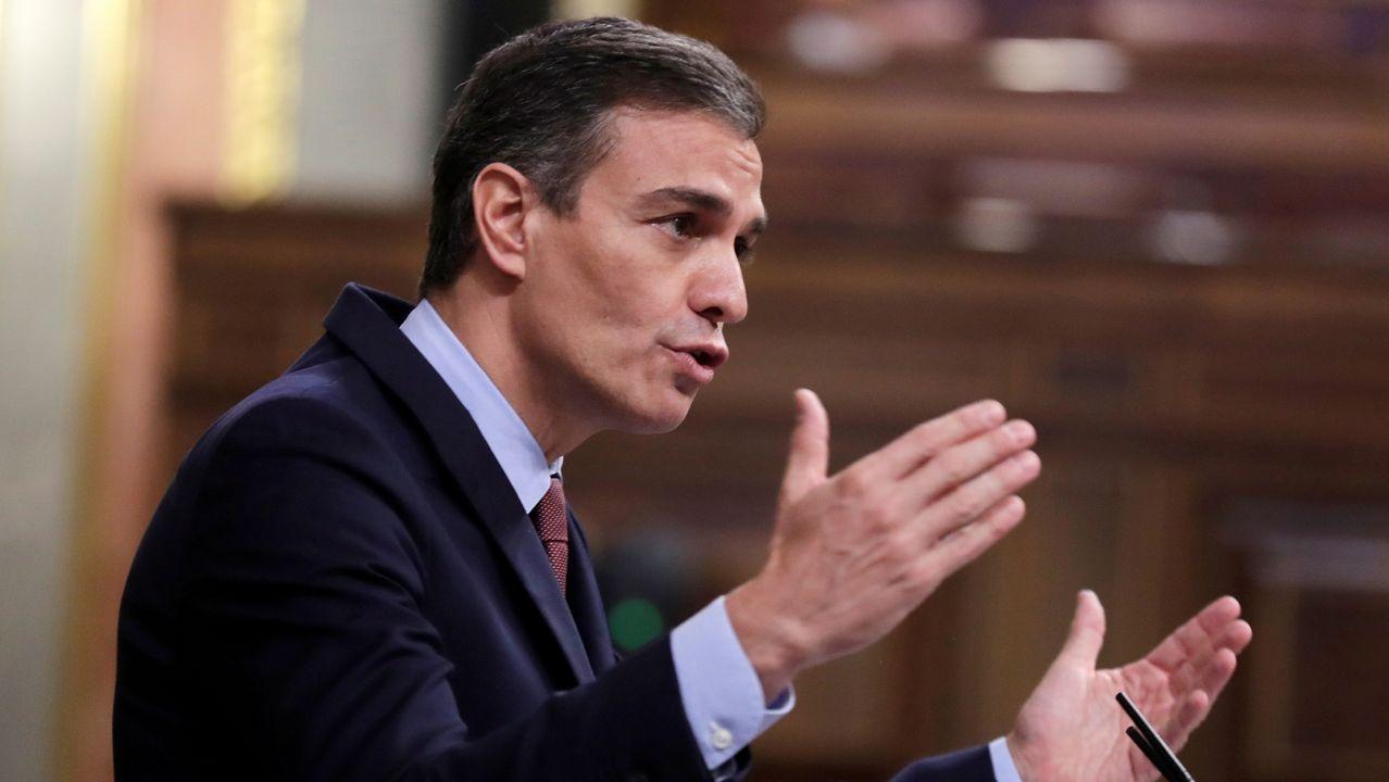 EN DIRECTO: Pedro Sánchez explica en qué consisten las nuevas restricciones.Pedro Sánchez y Pablo Iglesias, durante el debate de la moción de censura