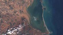 Vista aérea del Mar Menor y La Manga, en la provincia de Murcia