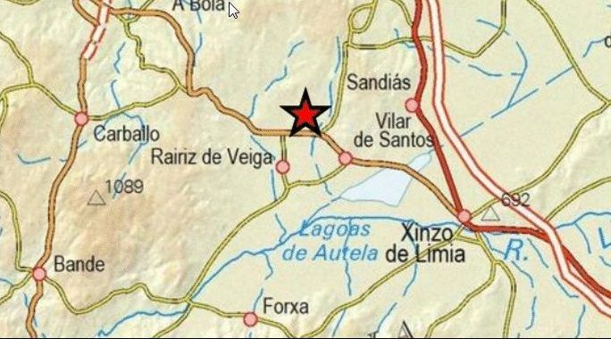 Concello de Rairiz de Veiga, donde se registraron tres de los seísmos