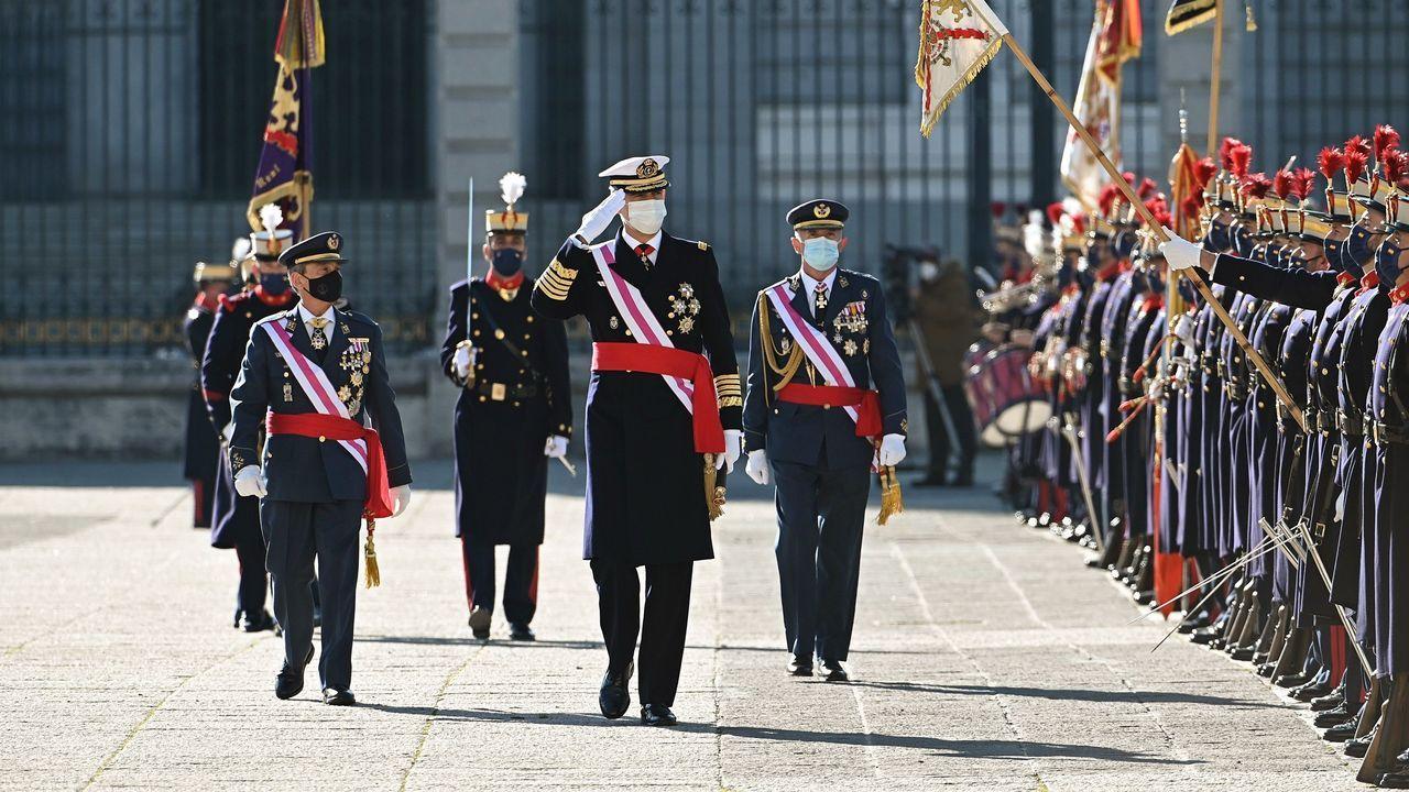 El rey reaparece en la Pascua Militar.El rey emérito, en el acto conmemorativo del 40 aniversario de la Constitución, en diciembre del 2018