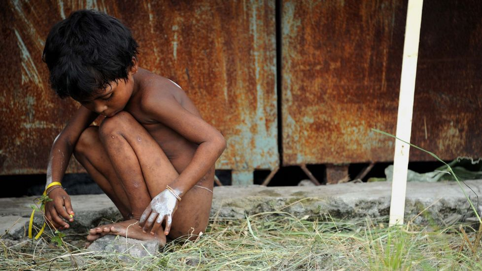 El éxodo de losrohingyas, una de las peores crisis humananitarias.Inmigrantes rohingyas, ayer en Maungdaw.