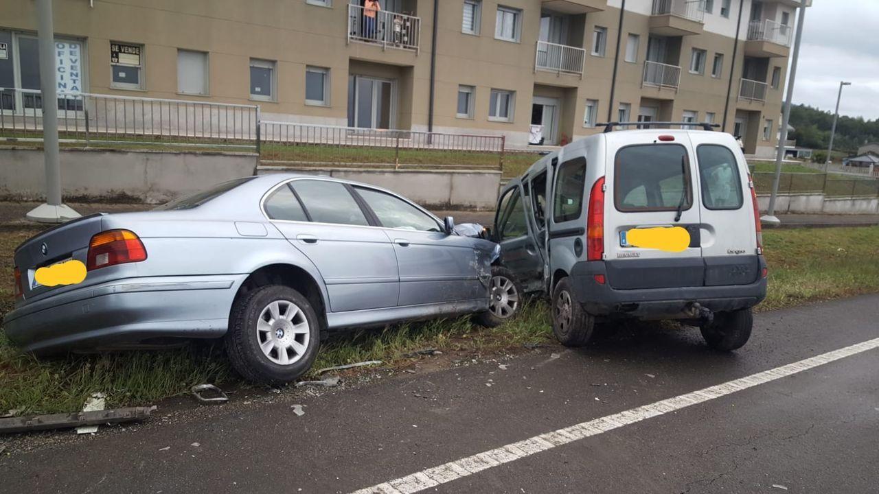 Tráfico, carreteras, señal.El accidente se produjo en la N-634 a su paso por Barreiros pasadas las ocho de la tarde