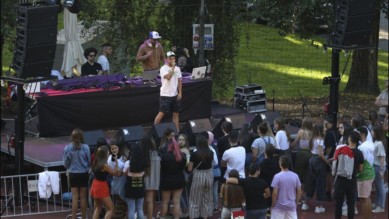 La jornada del domingo incluyó un festival de hip hop en Vite