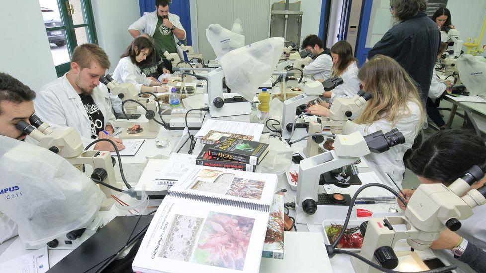 Imagen de archivo de alumnos de máster en la estación de Bioloxía Mariña da Graña, en Ferrol