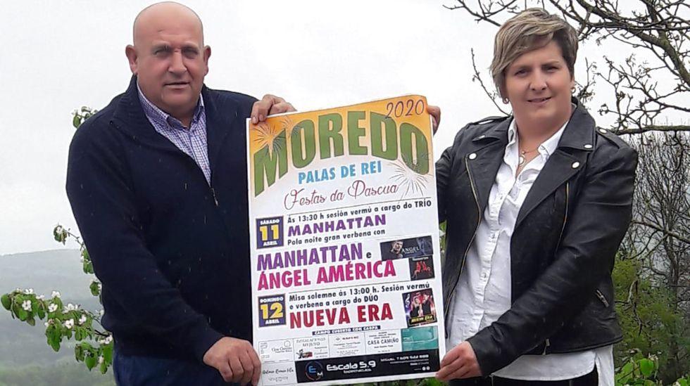 Javier Besteiro y Sonia Varela, ramistas de las fiestas de Moredo, en Palas de Rei, que tuvieron que ser suspendidas por el coronavirus