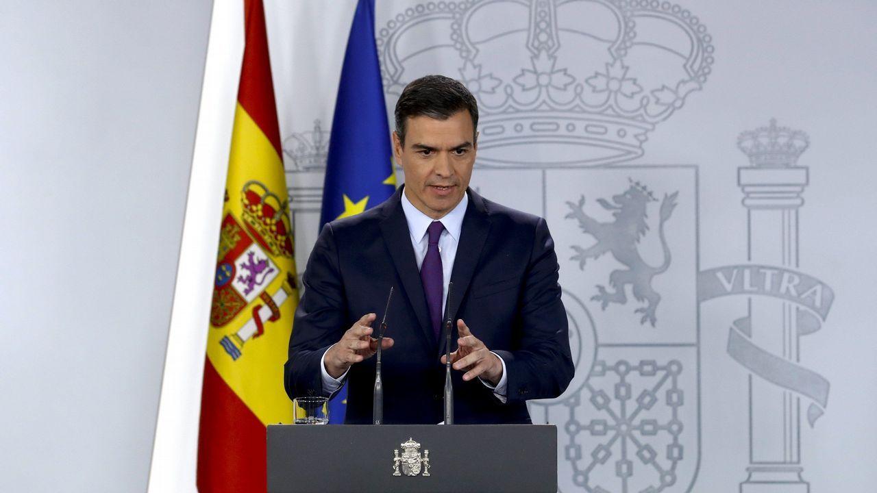 EN DIRECTO: Pedro Sánchez comparece después de que el rey le haya encargado formar Gobierno.Reina Letizia