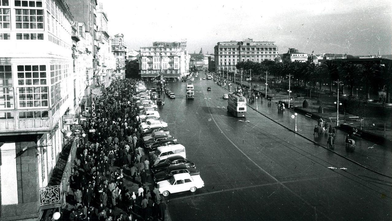Vista del Cantón Grande desde el edificio del Banco Pastor en 1958