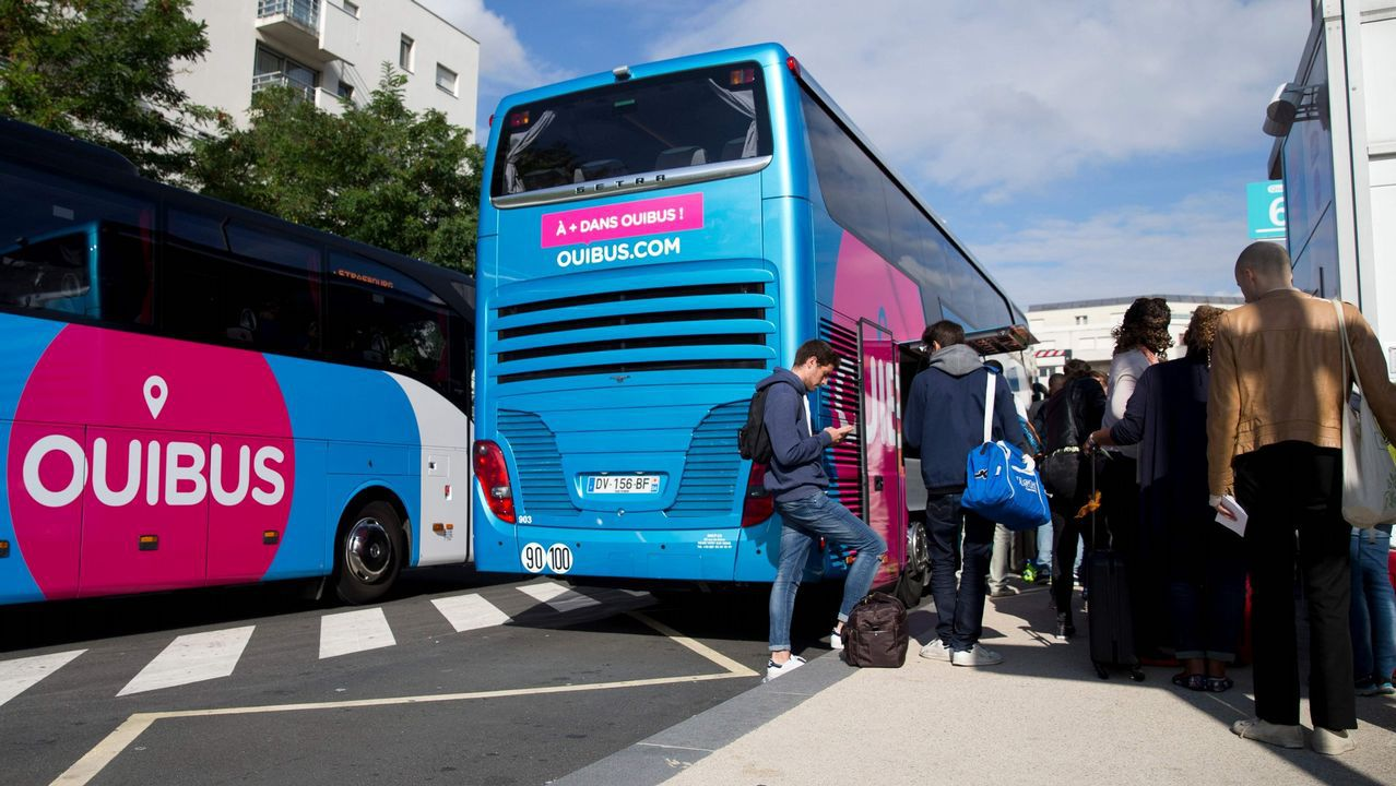 Dos autobuses de Ouibus en ua imagen de archivo