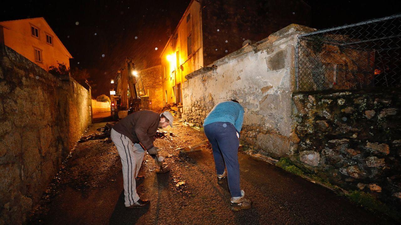 Hórreo derribado en Burela
