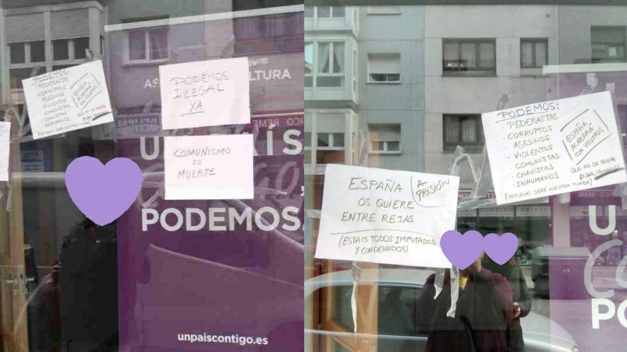 Osezna Éndriga apura últimos días semicautiva antes de volver a medio natural.La sede de Podemos en Gijón llena de papeles con insultos y amenazas